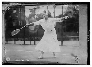 1910 Lady Playing Tennis