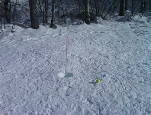 Snow in the First Hole