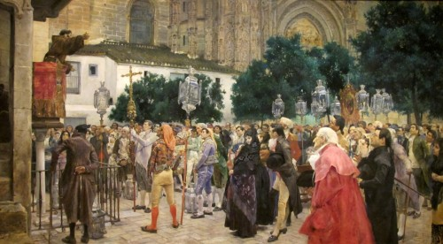 Painting--Holy Week in Seville, by Jose Jimenez y Arinda