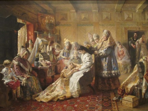 Painting: 'The Russian Bride's Attire', by Konstantin Makovsky