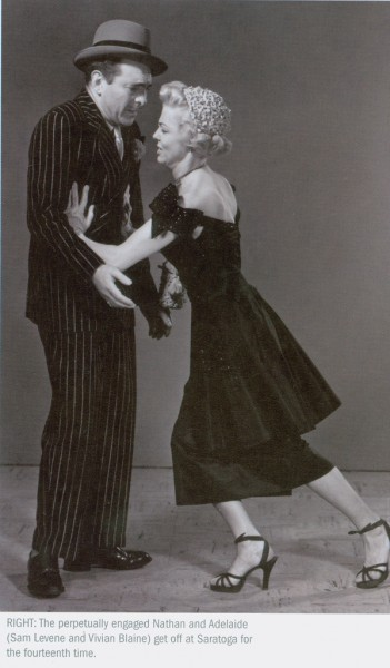 Photo of stage actors Sam Levene and Vivian Blaine in the original Guys and Dolls