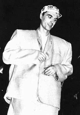 David Byrne of Talking Heads in his Big Suit