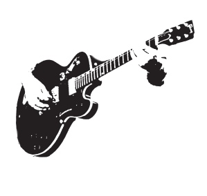 Image of a guitar being played
