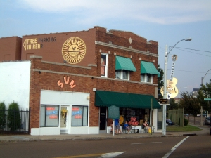 Sun Records studio storefront in Nashville